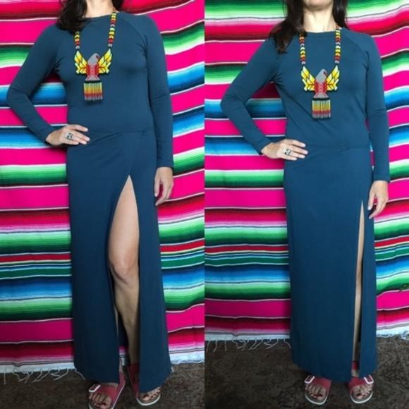 Anthropologie Dresses & Skirts - AnthroSkin Worldwide Open Back Slit Maxi Dress
